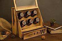 Деревянная шкатулка тайник - Подарок мужу жене парню девушке. Мужской / женский органайзер для украшений часов