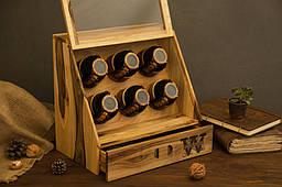 Дерев'яна шкатулка схованку - Подарунок чоловіка дружині хлопцеві, дівчині. Чоловічий / жіночий органайзер для прикрас годин