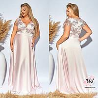 Изумительное батальное вечернее платье в пол. 3 цвета!, фото 1