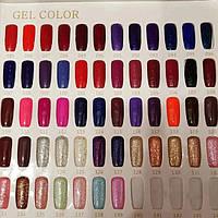 Палітра відтінків гель-лаків Milano Cosmetic № 085-139 (8 мл)