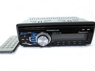 Автомагнитола Pioneer 1090 - USB флешки + SD карты памяти + AUX + FM (4x50W). Съемная панель