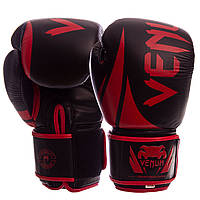 Перчатки боксерские кожаные на липучке VENUM VN-2249 (р-р 10-12oz, цвета в ассортименте), фото 1