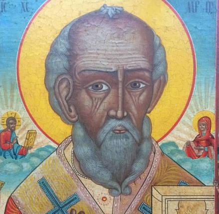 Старообрядческая икона Никола Отвратный 19 век, фото 2