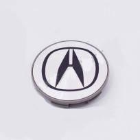 Колпачки в легкосплавные диски Acura серебро/черный лого (69 мм)