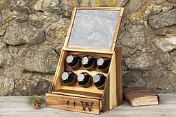 Унісекс скринька для наручних годинників, прикрас з тайником. Іменний аксесуар, оригінальний подарунок коханому