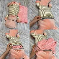 Детский плед игрушка Бегемот, фото 1