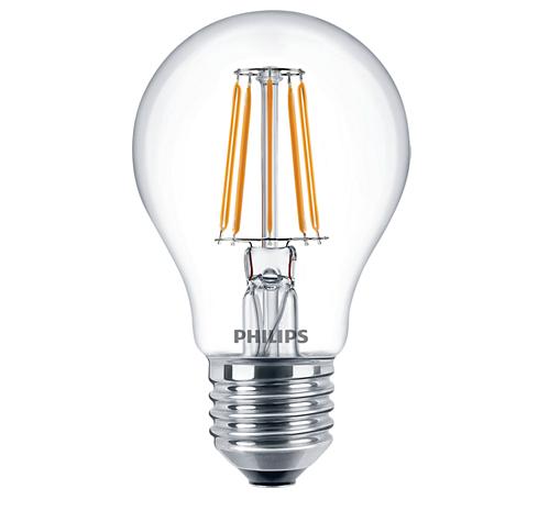 Лампа светодиодная LED Fila 7,5 - 70W E27 WW A60 ND PHILIPS