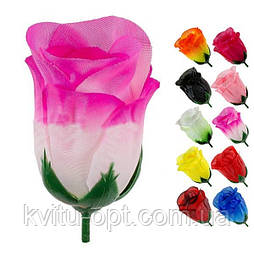 Искусственный Бутон розы шелк гигант, 9см (50 шт. в уп)