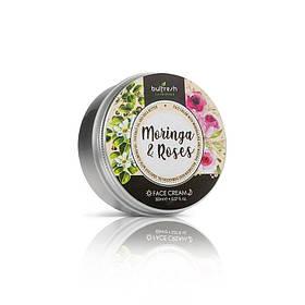 Крем для лица с маслом моринги и натуральным болгарским розовым маслом Morninga & Roses