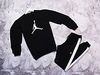 Спортивный костюм Jordan (Nike) свитшот и штаны с белыми лампасами