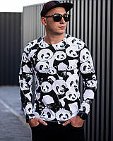 Свитшот мужской Панда черно-белый