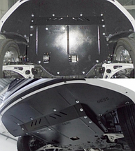 Захист двигуна Hyundai SONATA LF, американка 2014- (двигун+КПП+радіатор)