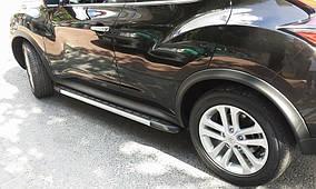 Nissan Juke 2010↗ рр. Бічні пороги Duru (2 шт., алюміній)