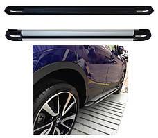 Nissan Juke 2010↗ рр. Бічні пороги Rainbow (2 шт., алюміній)