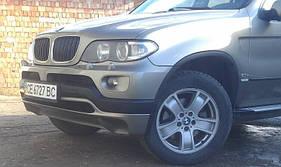BMW X5 E-53 1999-2006 рр. Накладка на передній бампер послерестайл (під фарбування)