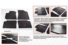 Geely Emgrand EC7 Гумові килимки (4 шт, Stingray Premium)