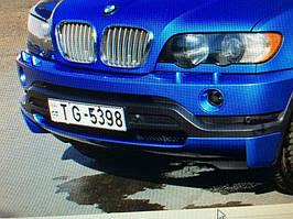 BMW X5 E-53 1999-2006 рр. Накладка на передній бампер дорестайл (під фарбування)
