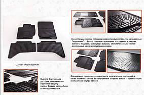 Гумові килимки (4 шт, Stingray Premium) Mitsubishi Pajero Sport 2008-2015 рр.