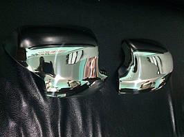Накладки на дзеркала (2 шт., нерж.) Renault Logan III 2013↗ рр.