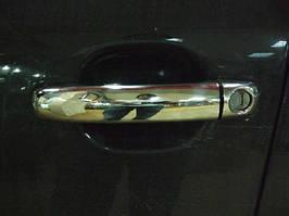 Audi Q7 2005-2015 гг. Накладки на ручки (4 шт, нерж.) Итальянская нержавейка, с чипом