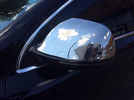 Audi Q7 2005-2015 гг. Накладки на зеркала (2 шт) OmsaLine, нержавейка