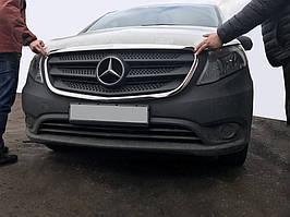 Обведення решітки (2 шт., нерж) Mercedes Vito / V W447 2014↗ рр.