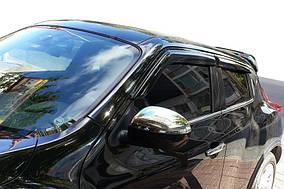 Nissan Juke 2010↗ рр. Накладки на дзеркала, 2010-2014 Хром (2 шт., нерж.) OmsaLine - Італійська нержавійка