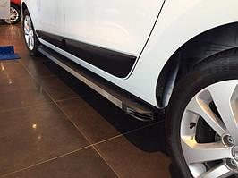 Dacia Lodgy 2013↗ рр. Бічні пороги Maya V1 (2 шт., алюміній)