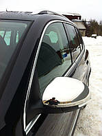 Накладки на дзеркала (2 шт., нерж) Carmos - Турецька сталь Volkswagen Tiguan 2007-2016 рр.