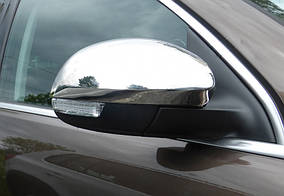 Skoda Yeti 2010↗ гг. Накладки не зеркала (2 шт, нерж) Carmos - Турецкая сталь