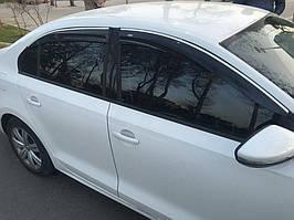Вітровики з хром смужкою (4 шт, Niken) Volkswagen Jetta 2011-2018 рр ..