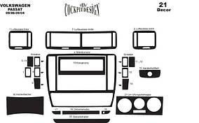 Volkswagen Passat B5 1997-2005 гг. Накладки на панель 1996-2004 Титан