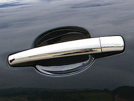 Peugeot 407 Накладки на ручки (нерж) Carmos - Турецкая сталь