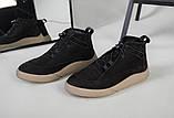 Мужские черные зимние ботинки из нубука, фото 7