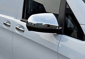 Накладки на дзеркала Частина дзеркала (2 шт) Carmos - Турецька сталь Mercedes Vito / V W447 2014↗ рр.
