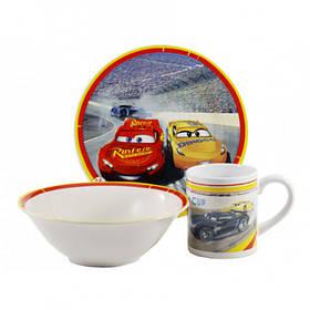 Набор детской посуды Тачки Маквин 3 предмета Фарфор Interos ТО-8 (84409)