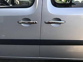 Накладки на ручки (нерж) 4 шт, Carmos - турецька сталь Mercedes Citan 2013↗ рр.