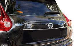 Nissan Juke 2010↗ рр. Хром планка над номером (нерж.) Carmos - Турецька сталь
