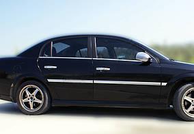 Opel Vectra C 2002↗ рр. Зовнішня окантовка вікон (4 шт, нерж) Carmos - Турецька сталь