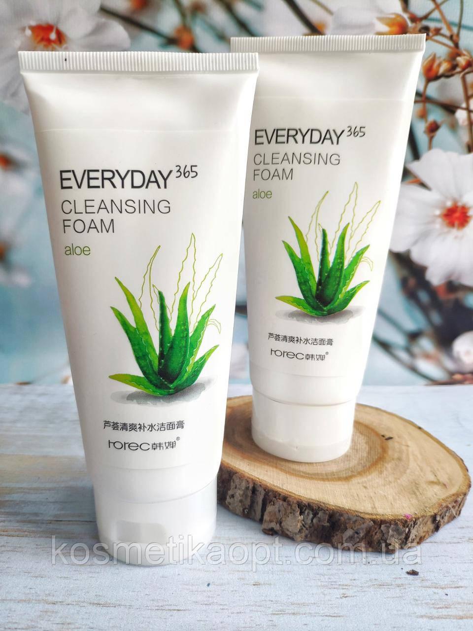 Крем -Пенка для умывания с экстрактом Алоэ Вера ROREC Everyday 365 Cleansing Foam