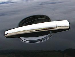Peugeot 4007 Накладки на ручки (нерж) OmsaLine - Італійська нержавійка