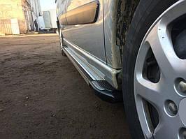 Fiat Scudo 2007-2015 рр. Бічні пороги Rainbow (2 шт., алюміній) Коротка база