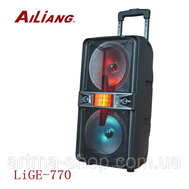 Активная акустическая система Ailiang Lige 770 Bluetooth колонка, Колонка 200 Ватт, Светомузыка, Черная