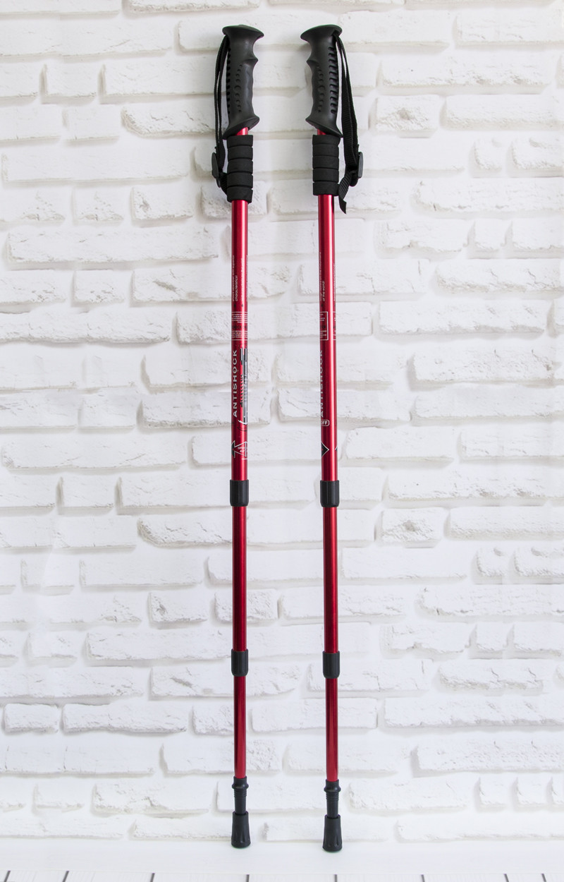 🔝 Скандинавские телескопические трекинг палки (Тип 2 Red) палочки для скандинавской ходьбы трекинговые | 🎁%🚚