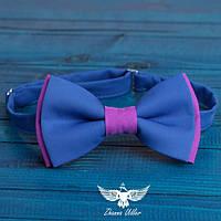 Галстук-бабочка сине-сереневая, фото 1