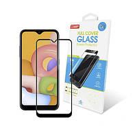 Захисне скло Samsung Galaxy A015 A01 Full Glue (чорне) GlobalShield