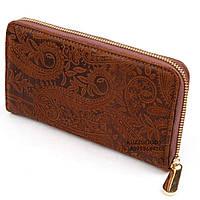 Кожаный женский кошелек. Шкіряний жіночий гаманець.