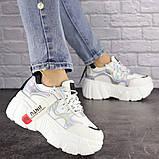 Женские стильные кроссовки Fashion Sabella 1390 40 размер 25 см Белый, фото 4