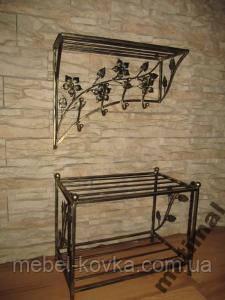 Меблі в передпокій (ковані банкетка і вішалка ) 28