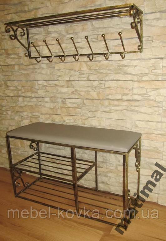 Мебель в прихожую (кованая банкетка и вешалка ) 29